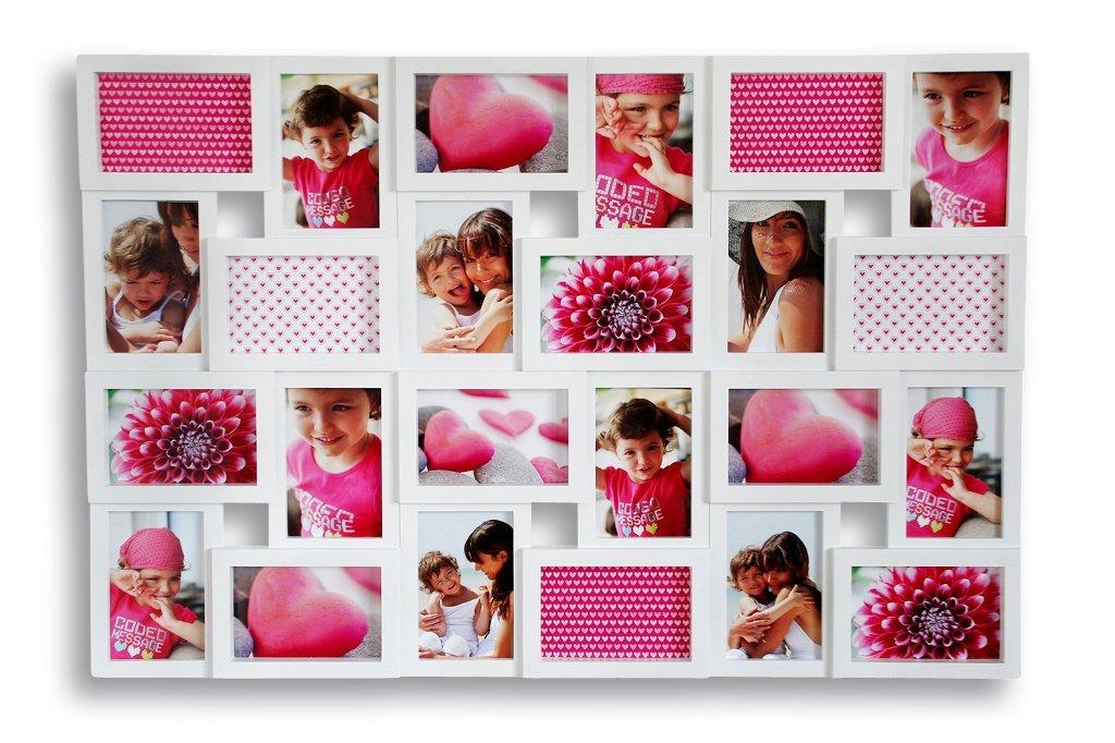 Amazon.de: levandeo XXL Bilderrahmen Weiß für 24 Fotos 10x15 cm ...