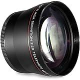 52MM 2.2x Telephoto Conversion Lens for For Nikon D3000, D3100, D3200, D3300, D5000, D5100, D5200, D5300, D5500, D7000, D7100, DF, D3, D3S, D3X, D4, D40, D40x, D50, D60, D70, D70s, D80, D90, D100, D200, D300, D600, D610, D700, D750, D800, D800E, D810 Digital SLR Camera (Compatible With 18-55mm, 24mm 28mm f/2.8D, 35mm f/1.8G, f/2.0D, 40mm, 50mm f/1.4D, 50mm f/1.8D Lens)