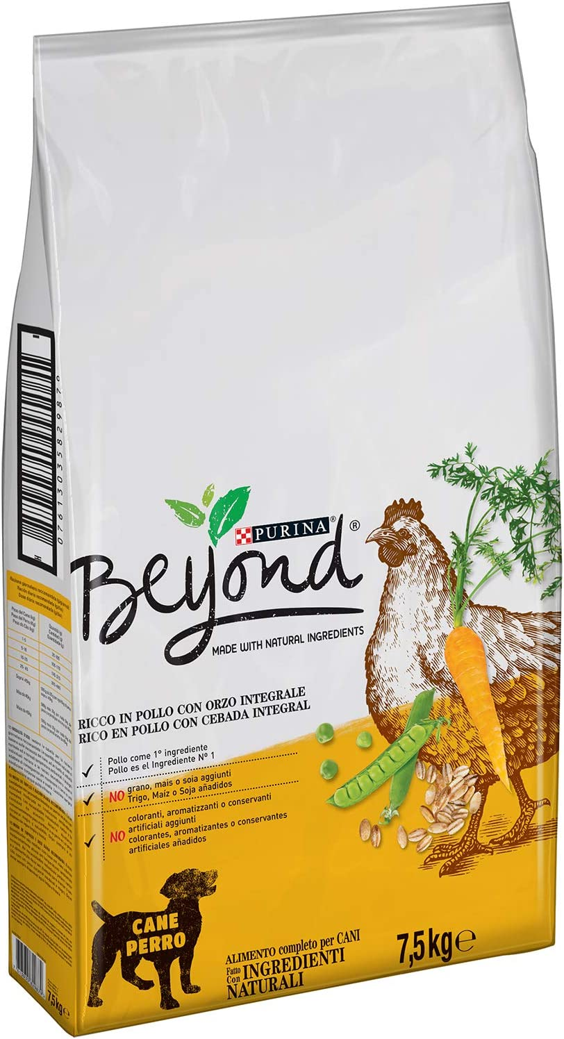 Purina Beyond Pienso Natural para Perro Adulto Pollo y Cebada Integral 7,5 Kg: Amazon.es: Productos para mascotas