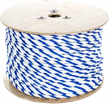 UV Twisted Polypropylene Rope Floating Polypro Cord 50 Feet - 1200 Feet Mold Oil and Acid Resistant 1//4 Inch - 3//4 Inch Moisture Mildew Nautical Rot Chemical Wet Projects Marine