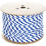 West Coast Paracord Twisted Polypropylene Pool Rope (1/4-3/4 Inch) 3 Strand Polypro Cord - Lightweight Utility Rope for Safety Lines, Pool Lanes (10-600 Feet Lengths, Blue and White)