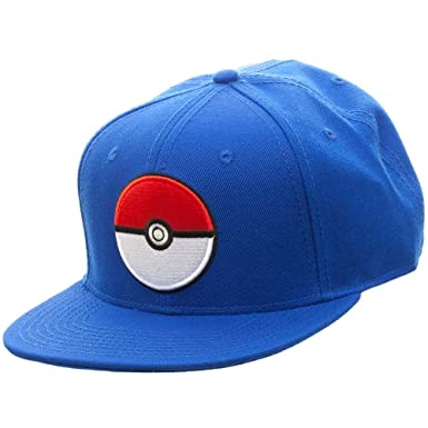 e28ddf4805f Amazon.com  Pokemon Pokeball Logo Snapback Cap Hat New Licensed ...