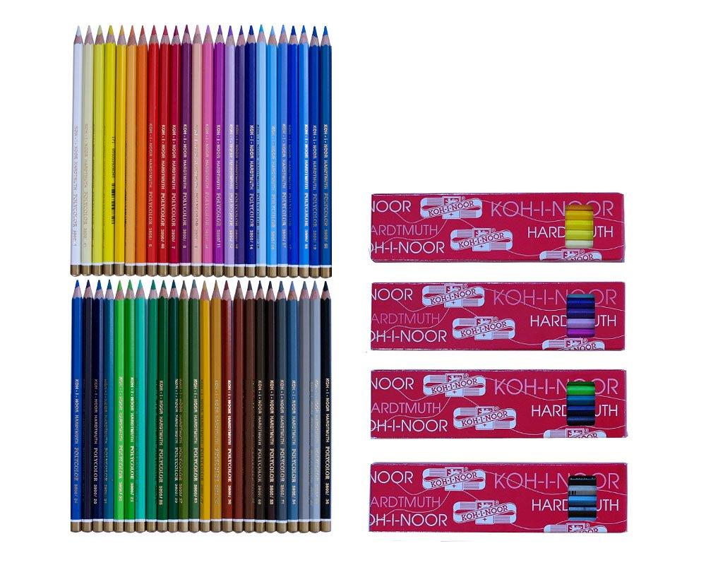48 Polycolor Künstler Farbstifte feinster Qualität von KOH I NOOR Amazon Spielzeug