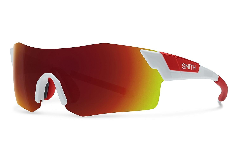 Smith ancmdmwt Herren Weiß Rahmen rot Objektiv Sport-Sonnenbrille
