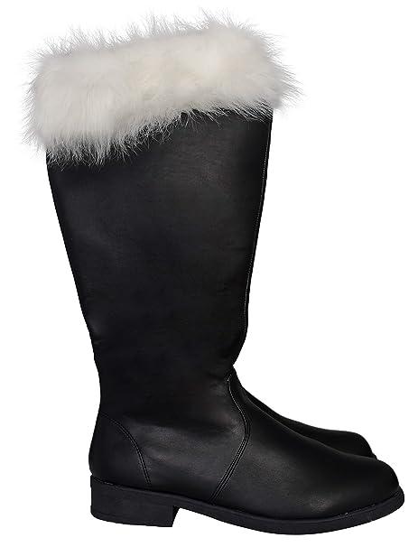 Adult Halloween Christmas Santa Claus Costume Black Boots
