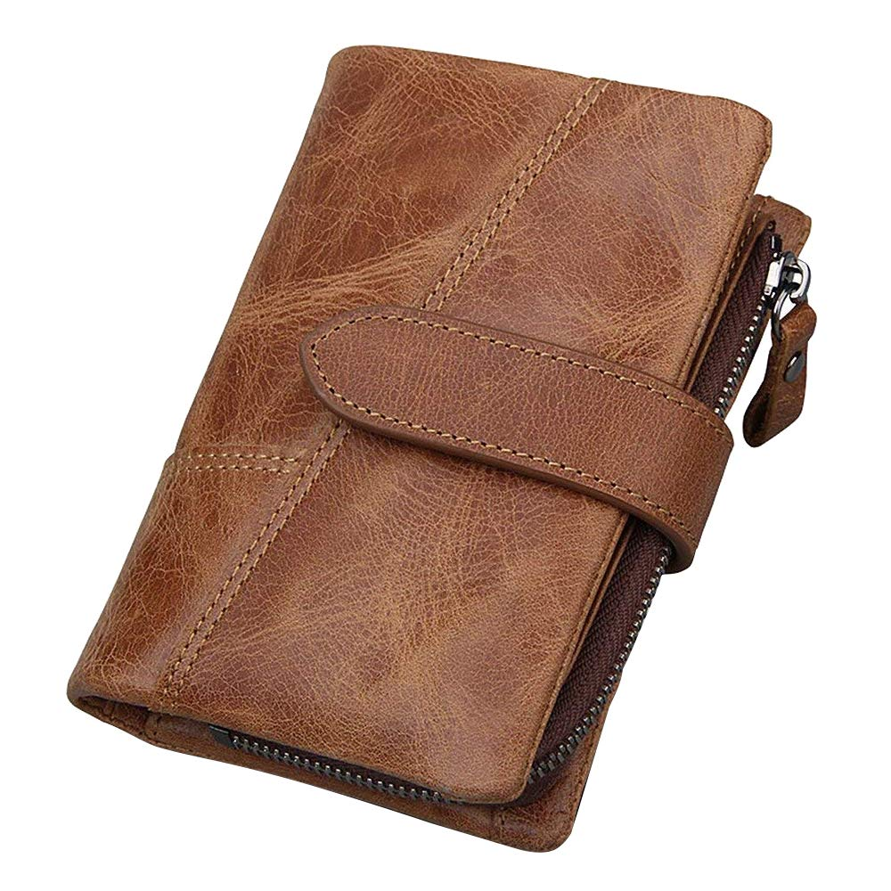 Mylifeunit multifunzionale RFID porta carte di credito, carta di credito Protector raccoglitore per gli uomini 130 x 90 x 30 mm Brown OP18YL069