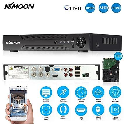 Amazon com : KKmoon 1080N/720P 4CH AHD DVR HVR NVR HDMI P2P Cloud