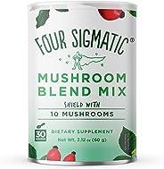 Four Sigmatic 10 Mushroom Blend - Lions Mane, Reishi, Chaga, Cordyceps, Enoki, Maitake, Shiitake, Tremella, Meshima, Agaricus