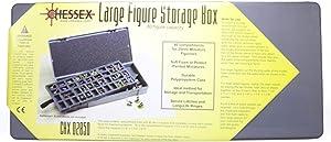 Chessex Figure Storage Box for 25mm Humanoids (80 Figure), Gray