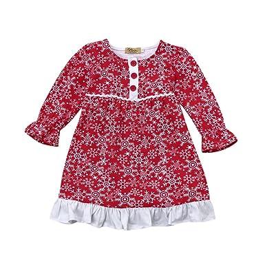 URSING Kleinkind Kinder Baby Mädchen Santa Snow Weihnachts-Outfits ...
