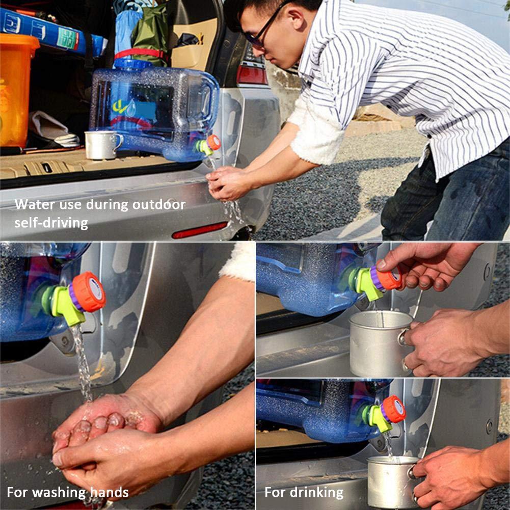 12L Jerrican Alimentaire avec Robinet R/éservoir Deau de Voiture de Seau Portatif de Bidon Sans BPA en Plastique Epais de Camping pour le Voyage Ext/érieur /À la Maison de Stockage Boire Pot
