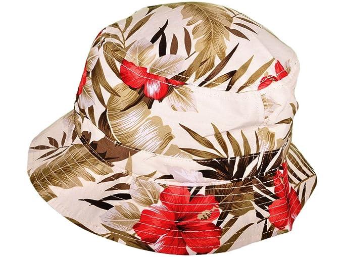 Amazon.com  KBETHOS Fashion Floral Bucket Hats Caps (White 40519de2da3
