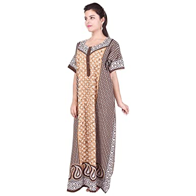 417a1b3dda Silver Organisation 100% Cotton Women s Maxi Gown (Free Size ...