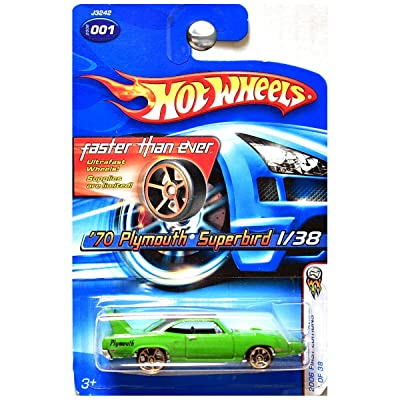 Hot Wheels 2006 First Editions Faster Than Ever 1970 Plymouth Superbird Green: Toys & Games
