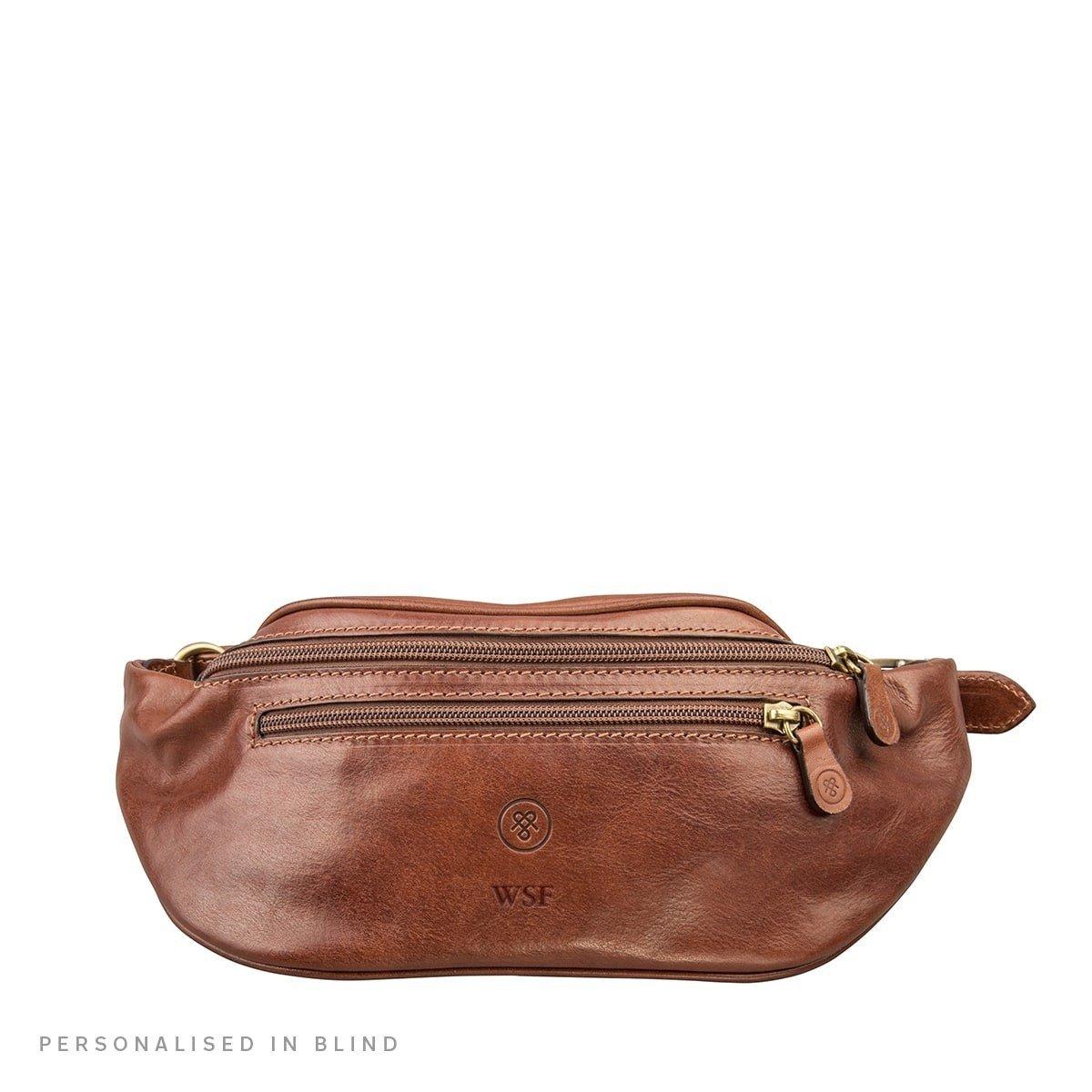 Maxwell Scott Personalized Premium Quality Leather Bum Bag (Centolla)