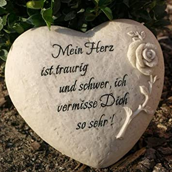 Trauerherz Grab Spruch Mein Herz Ist Traurig Und Schwer Ich
