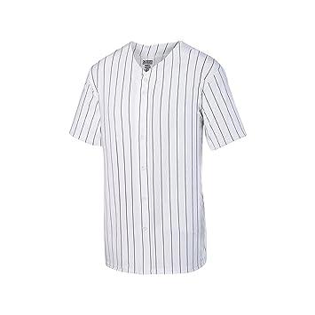 black and white pinstripe baseball jersey