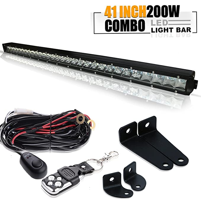 "1 opinioni per 40"" 200W Barra LED spot flood LED Light bar Fuoristrada Proiettore Riflettore"