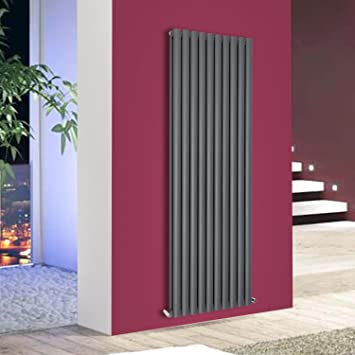 Tall Vertical Flat Panel Column Bathroom Designer Radiators With Angled Valves
