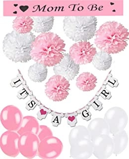 "Baby Shower Set - Hermosa guirnalda ""It´s a girl"","
