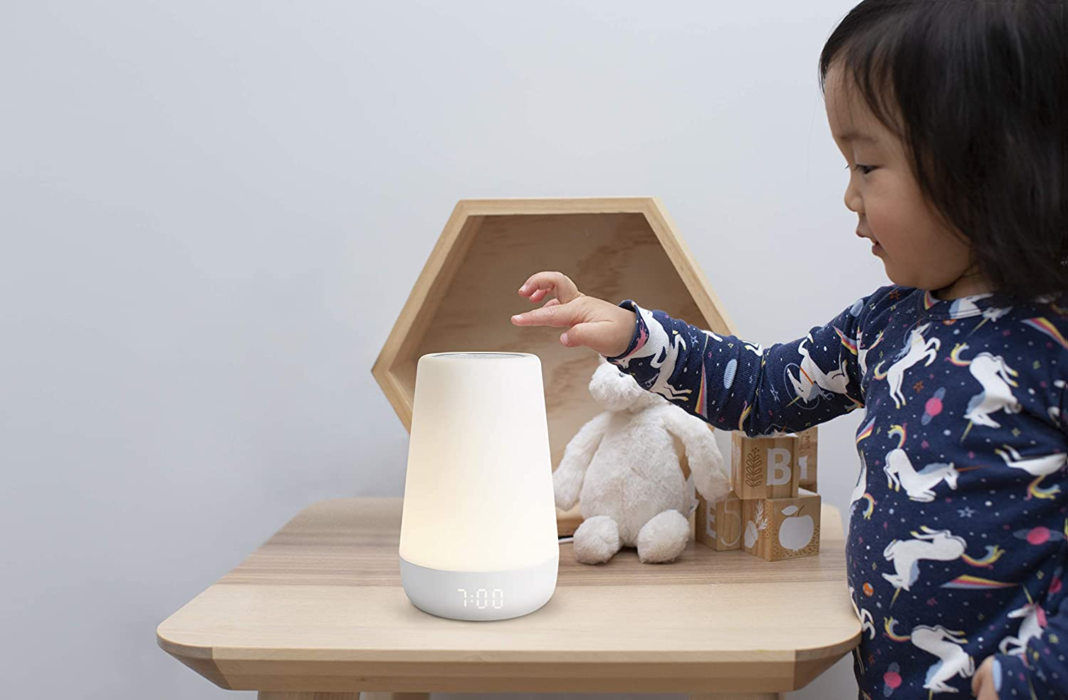 Toddler Sleep Trainer Night Light Time-to-Rise Plus Audio Monitor Hatch Rest+ Baby Sound Machine Nightlight White Noise Soother Kids Alarm Clock
