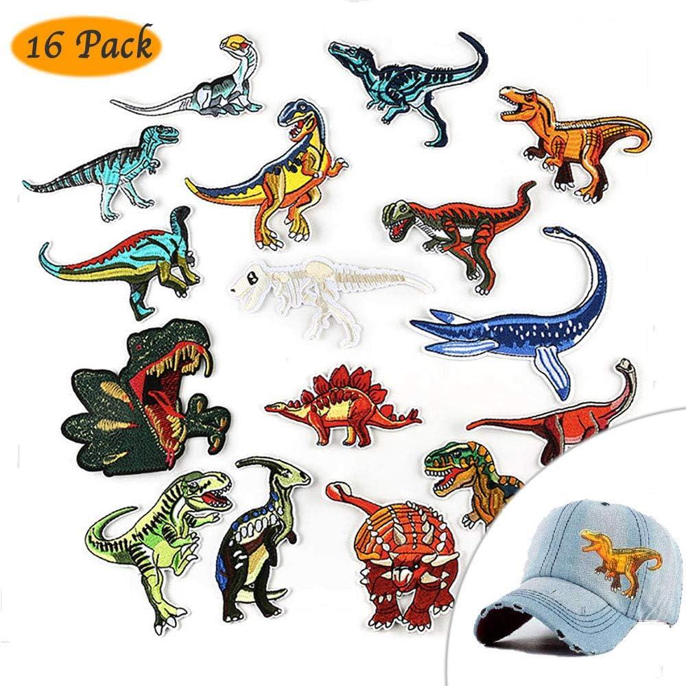 QIMMU Parche de Ropa Parches Dinosaurios Parches De Dinosaurios Parches Ropa Termoadhesivos Bricolaje Hierro-en Parches de Ropa para T-shirt Jeans Ropa Bolsas (16-pack): Amazon.es: Hogar