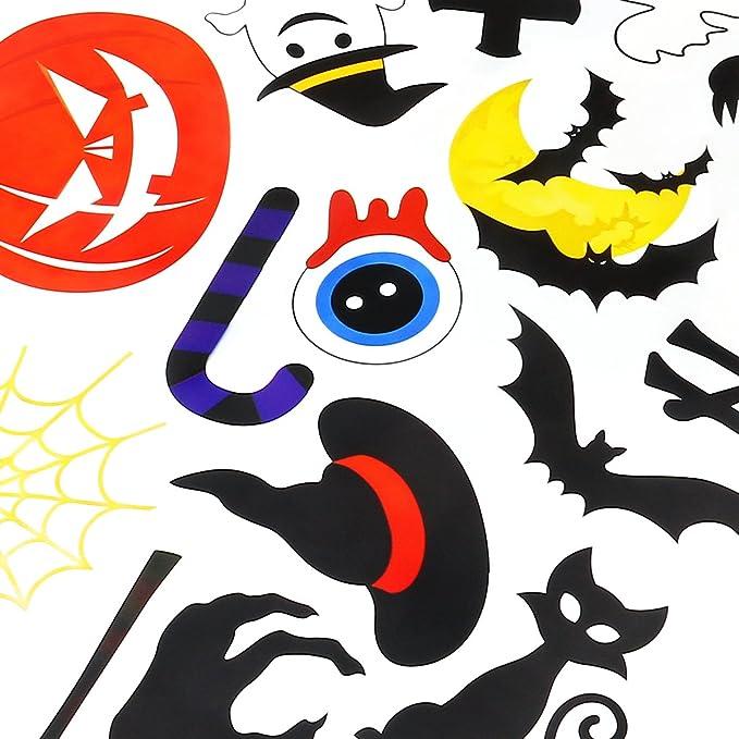 Amosfun 2 Hojas de Pegatinas de Halloween 35 Patrones de Cosas o ...
