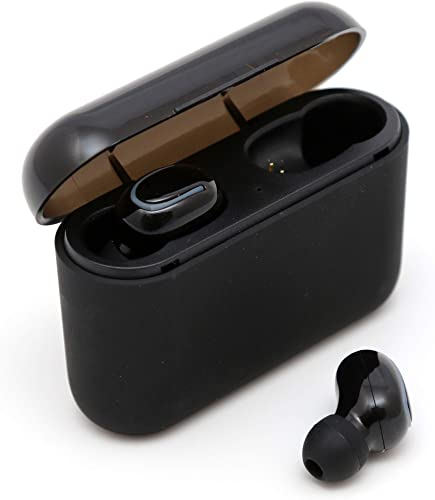 Wireless Earbuds, 5.0 Bluetooth Earphones, Impressive Sound and Noise Reduction, with Charging Case, Easy-Pairing, Stereo Calls, for Sports, Workout, Gym Black