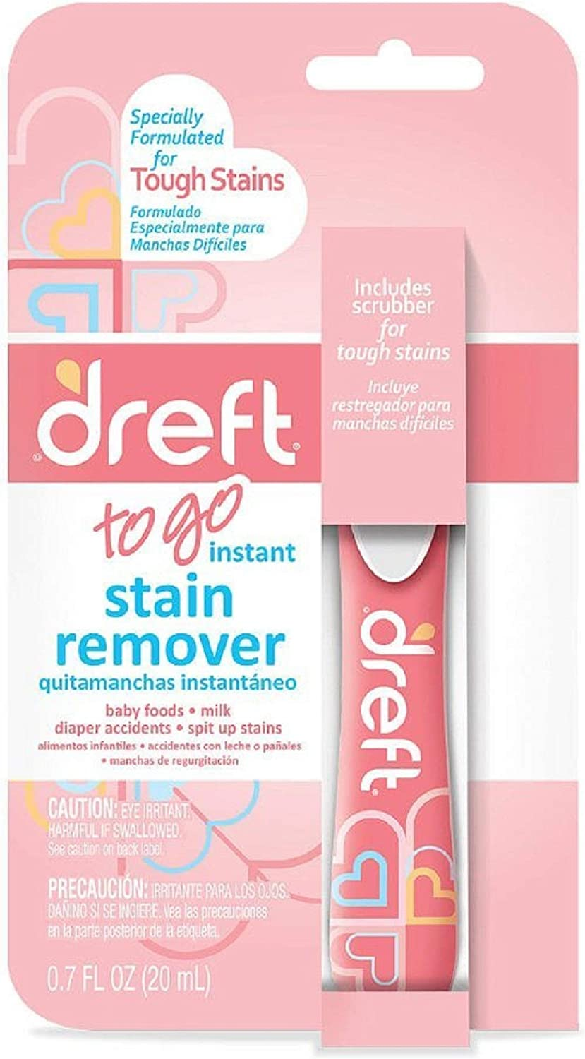 Dreft Baby Laundry Instant Stain Remover Pen, 0.7 Fluid Ounce (Pack of 1 Travel To-Go Pens)