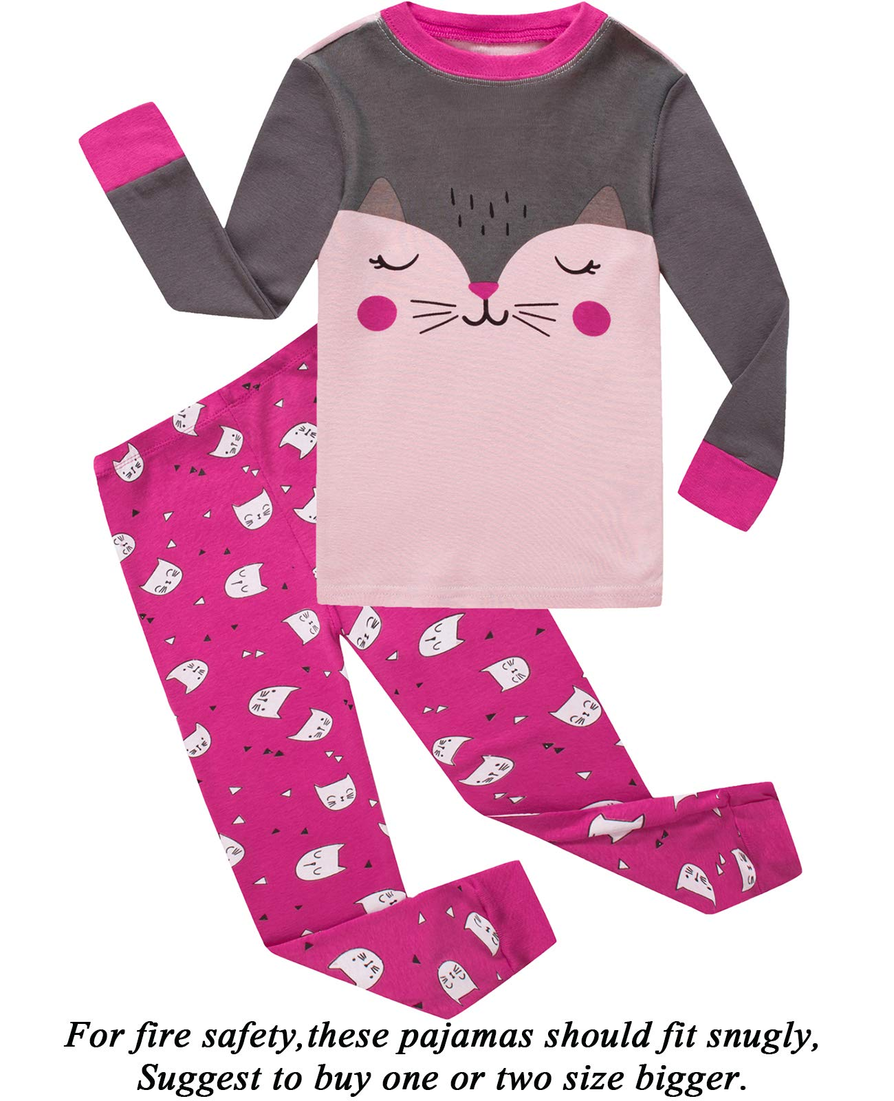 5119dddf57 Dolphin Fish Girls Pajamas 100% Cotton Cat Toddler Pjs Clothes Sleepwear  product image
