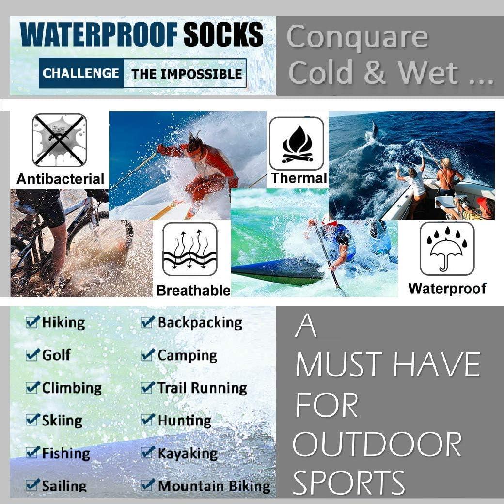 Highcamp wasserdichte Socken f/ür Men Dry Warm Atmungsaktiv Passt Radfahren Laufen Wandern Stiefel