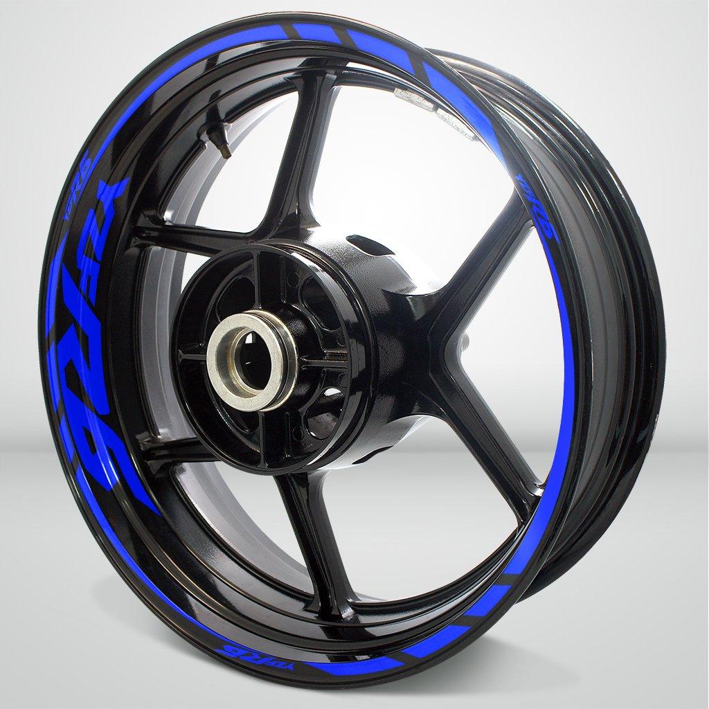 Yamaha YZF R6 Gloss Blue Motorcycle Rim Wheel Decal Accessory Sticker