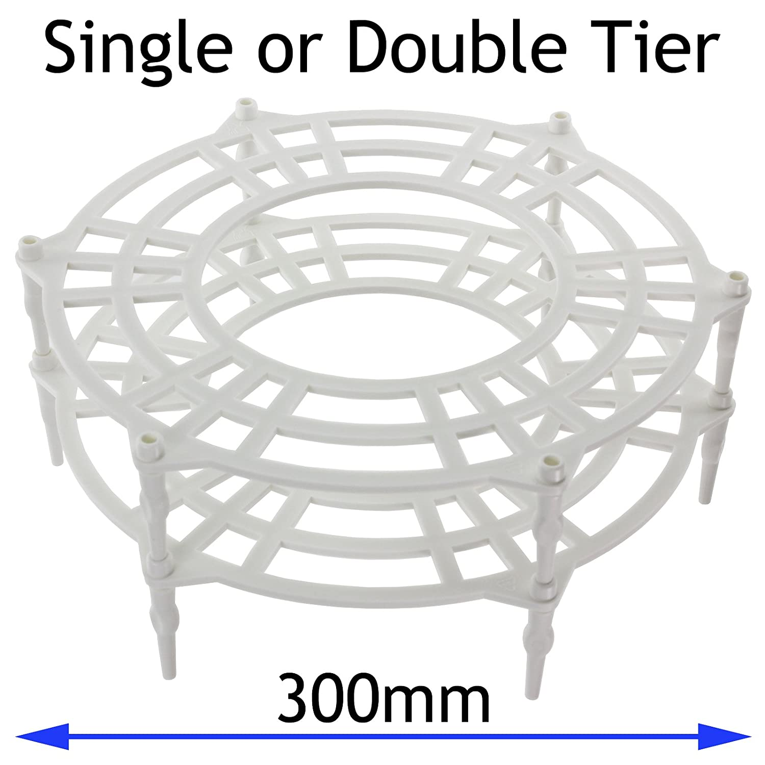 SPARES2GO 300mm Single + Double Tier Plate Stand Rack for Morphy Richards Microwave Ovens