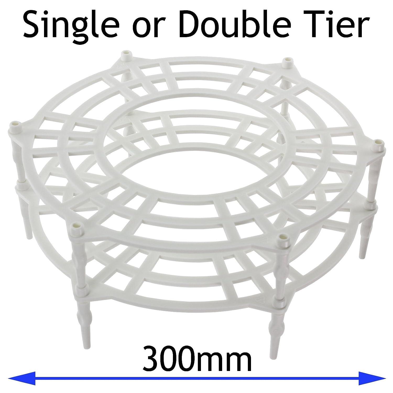 SPARES2GO 300mm Single + Doppia livelli Targa Supporto rack per Whirlpool Forno a microonde