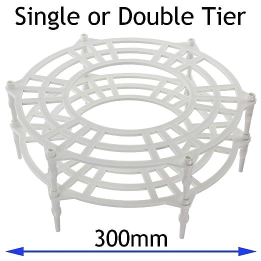Spares2go 300 mm Single + doble niveles placa soporte rack ...