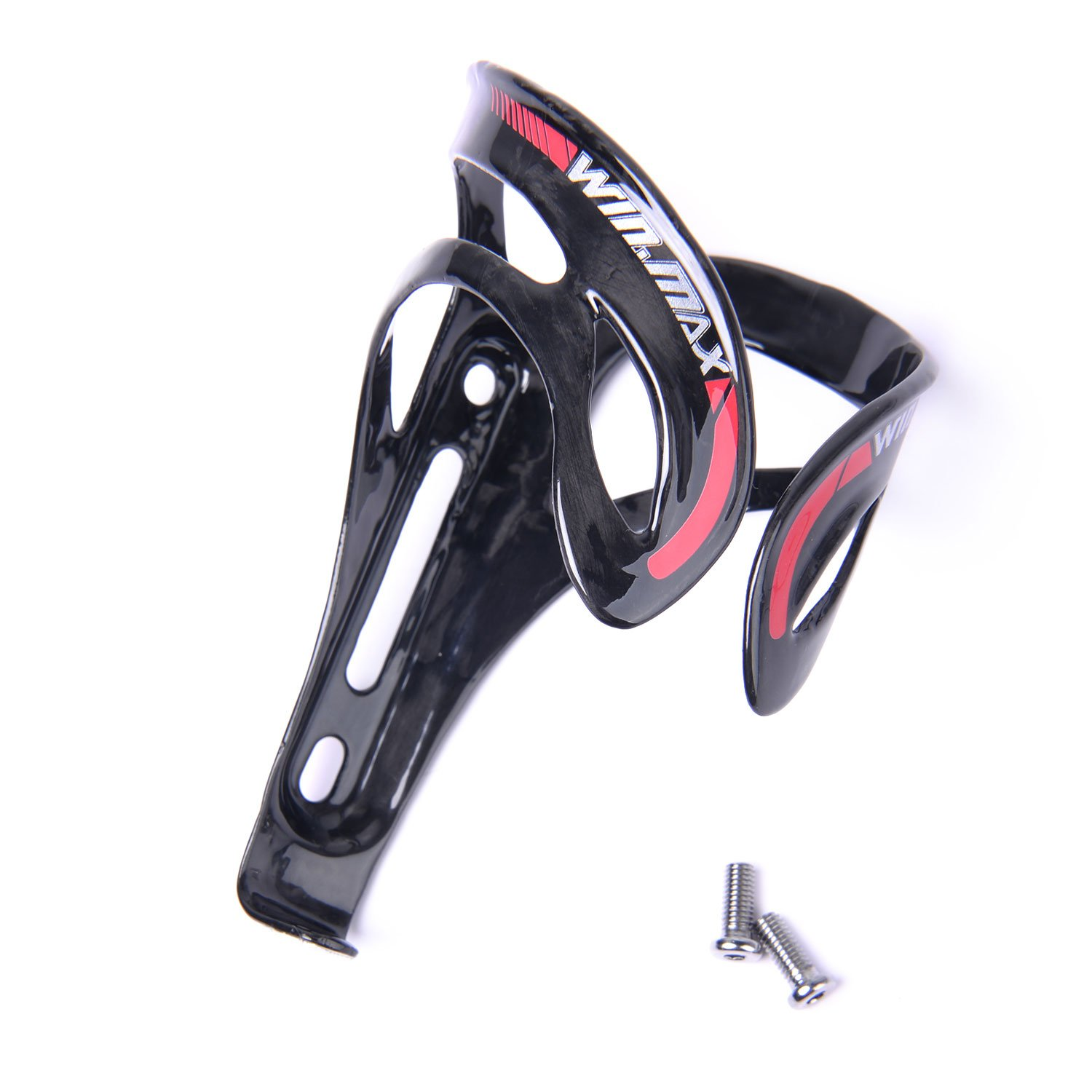 WIN.MAX Full Carbon Fiber Bicycle Bike Light Water Bottle Cage Holder Glossy Finish Glossy Finish Cobra