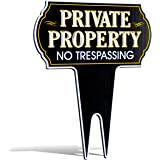"""Metal Yard Reflective Private Property No Trespassing Sign 
