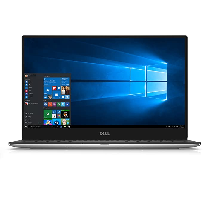 Dell XPS 9350-1340SLV 13.3 Inch Laptop (Intel Core i5, 8 GB RAM, 128 GB SSD, Silver) Microsoft Signature Image