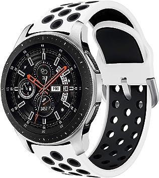 Syxinn Compatible para 22mm Correa de Reloj Galaxy Watch 46mm/Gear S3 Frontier/Classic Banda de Reemplazo de Silicona Deportiva Pulsera para Moto 360 2nd Gen 46mm/Huawei Watch GT/Ticwatch Pro: Amazon.es: Deportes y aire