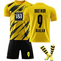 Funk Camiseta de fútbol Dortmun Local 9# 17# Haaland Soccer Jerseys Set Camiseta de Entrenamiento Deportivo y Conjunto…