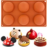 Large Hemisphere dome silicone mould pan 6 holes Baking Chocolate pudding Pastry Silicone Mold Pan Tray Bakeware 29.5x17.5x3.3cm