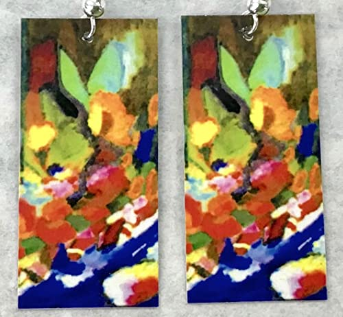 Amazon Com Floral Abstract Art Earrings These Will Never