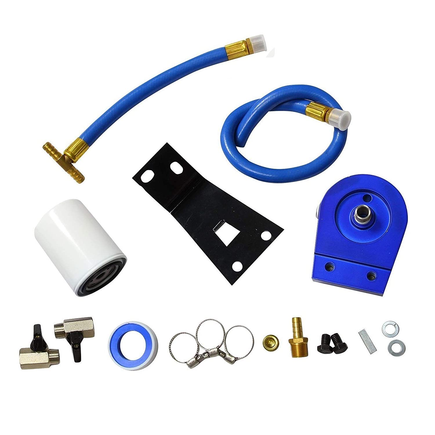 Coolant Filtration System Filter Kit 1999-2003 Ford F250 F350 7.3L Powerstroke Diesel yjracing