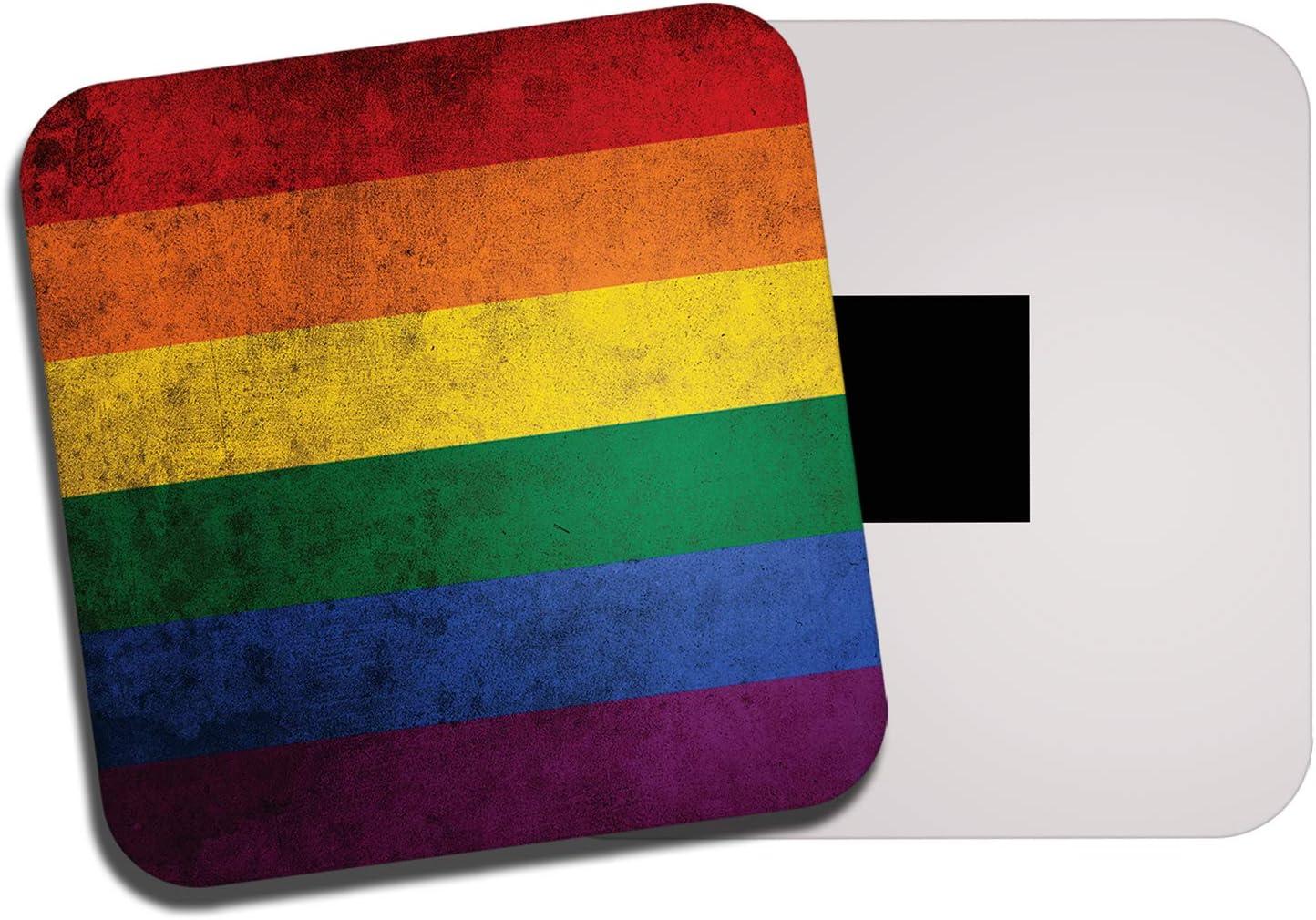 DestinationVinyl Gay Pride Flag Fridge Magnet - Lesbian LGBT Bisexual Rainbow Trans Gift #8841