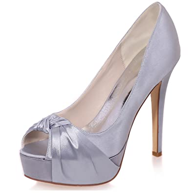 Peep Chaussures Soirée Toe De Femmes Mariage Elobaby Talons Chaton 5pg0zxwq