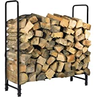KINGSO 4/8ft Firewood Rack Outdoor Heavy Duty Log Rack Firewood Storage Rack Holder Steel Tubular Easy Assemble Fire Wood Rack for Patio Deck Log Storage Stand for Indoor Outdoor Fireplace Tool