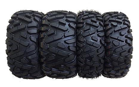4 WANDA ATV//UTV Tires 25X8-12 25X10-12 for 2004-2013 YAMAHA RHINO 450 660 700
