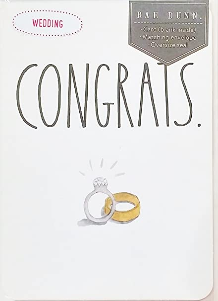 congrats rae dunn greeting card congratulations for wedding marriage anniversary bride groom