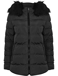 f9977184980bd Tokyo Laundry Womens Designer Adley Coat Ladies Quilted Faux Fur Hooded  Jacket