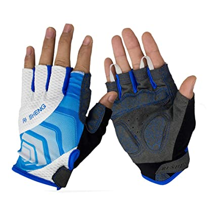575c807d9e03 Fashion Mesh Outdoor Sports Gloves Bike Bicycle Cycling Riding Half Finger  Non-slip Gloves Spring